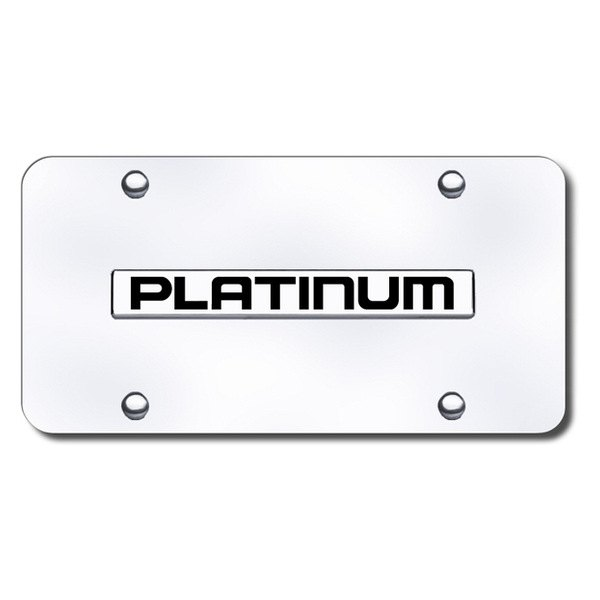 Autogold® - Platinum Name Logo on Chrome License Plate