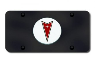 Autogold® - Pontiac Logo on Black License Plate