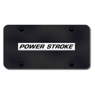 Autogold® - License Plate with Power Stroke Logo