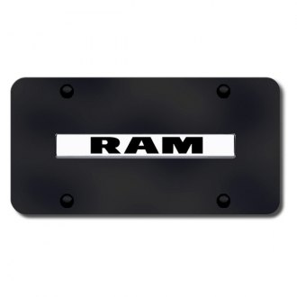 Autogold® - Ram Logo on Black License Plate