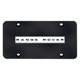 autogold license plate with range rover logo