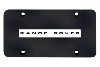 Autogold® - Range Rover Logo on Black License Plate