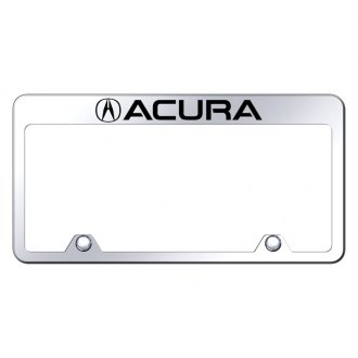 Autogold® - Inverted License Plate Frame with Engraved Acura Logo and Emblem
