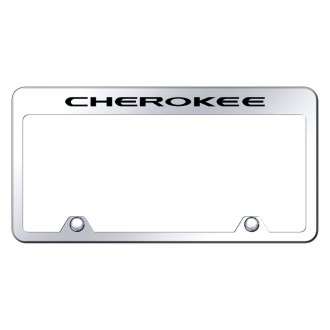 Autogold® - Inverted License Plate Frame with Engraved Cherokee Logo