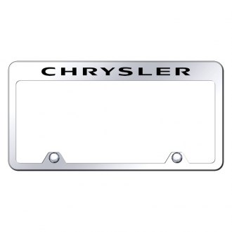 Autogold® - Inverted License Plate Frame with Engraved Chrysler Logo