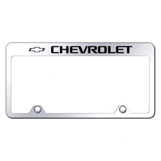 Autogold® - Inverted License Plate Frame with Engraved Chevy Logo