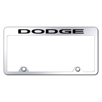 Autogold® - Inverted License Plate Frame with Engraved Dodge Logo