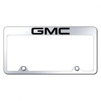 Autogold® - Inverted Chrome License Plate Frame with Engraved GMC Logo