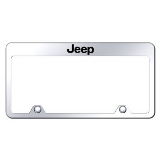 Autogold® - Inverted License Plate Frame with Engraved Jeep Logo