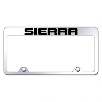 Autogold® - Inverted Chrome License Plate Frame with Engraved Sierra Logo