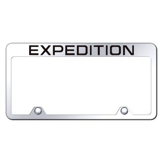 Autogold® - Inverted Chrome License Plate Frame with Engraved Expedition Logo