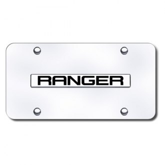 Autogold® - Ranger Logo on Chrome License Plate