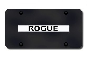 Autogold® - Rogue Logo on Black License Plate