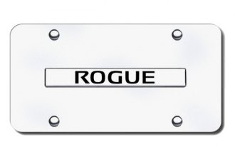 Autogold® - Rogue Logo on Chrome License Plate