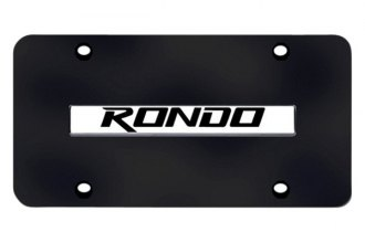 Autogold® - Rondo Logo on Black License Plate