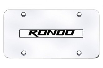 Autogold® - Rondo Logo on Chrome License Plate