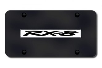 Autogold® - RX-8 Logo on Black License Plate