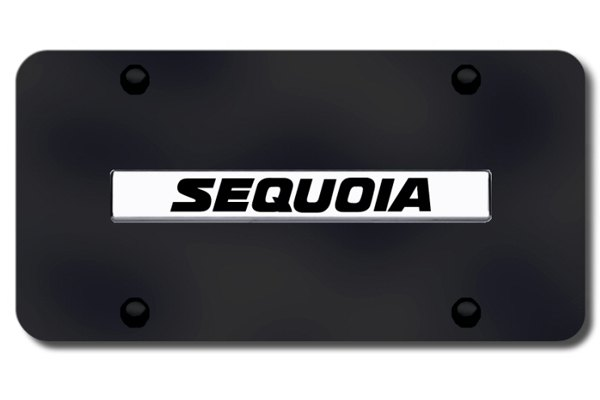 Autogold® - Sequoia Name Logo on Black License Plate