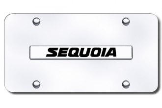 Autogold® - 3D Chrome Sequoia Logo on Chrome License Plate
