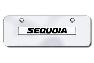 Autogold® - 3D Chrome Sequoia Logo on Chrome Mini Size License Plate