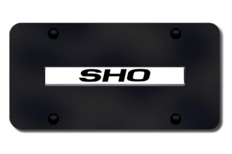 Autogold® - SHO Logo on Black License Plate