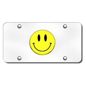 Autogold® - Smiley Logo on Chrome License Plate
