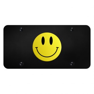 Autogold® - License Plate with Yellow Smiley Logo