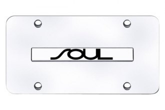 Autogold® - Soul Logo on Chrome License Plate