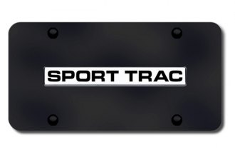 Autogold® - Sport Trac Name Logo on Black License Plate