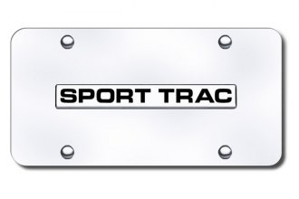 Autogold® - Sport Trac Name Logo on Chrome License Plate