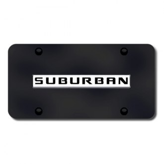 Autogold® - Suburban Logo on Black License Plate