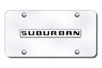 Autogold® - Suburban Logo on Chrome License Plate