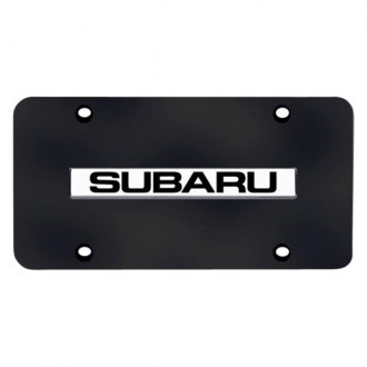 Autogold® - Subaru Logo on Black License Plate