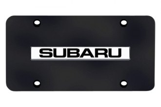 Autogold® SUB.N.CB - Subaru Logo on Black License Plate