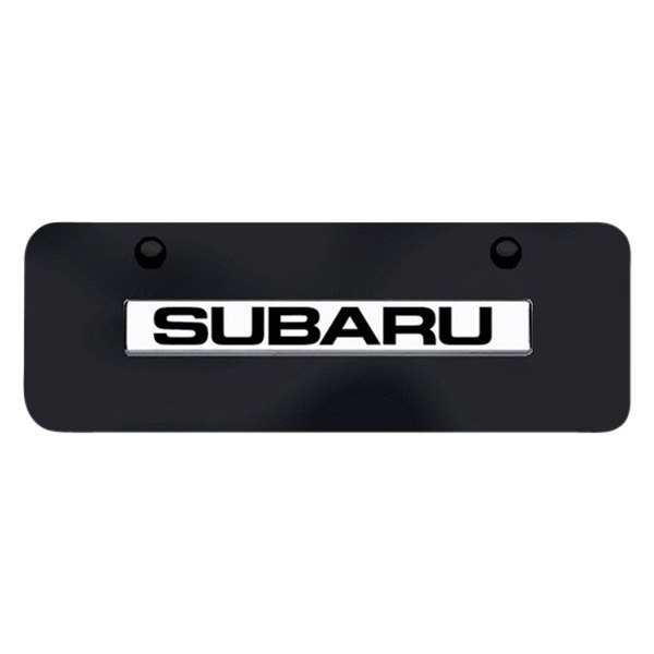 Autogold® - Subaru Logo on Black Mini Size License Plate
