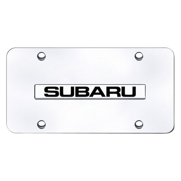 Autogold® - License Plate with Subaru Logo