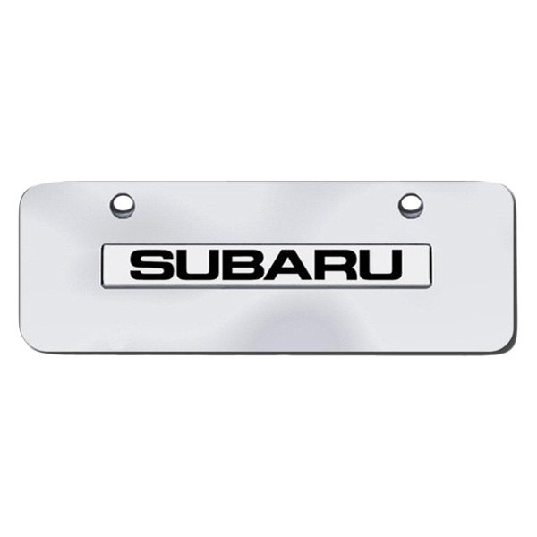 Autogold® - Mini Size License Plate with Subaru Logo