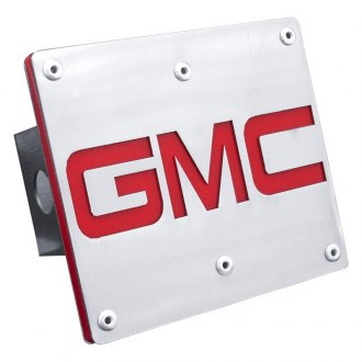 "Autogold® - Brushed Hitch Cover with GMC Logo for 2"" Receivers"