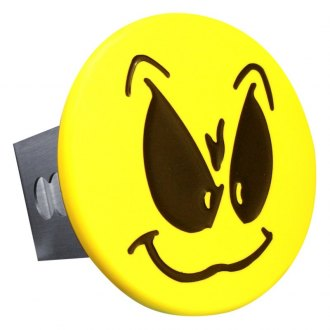 "Autogold® - Yellow Hitch Cover with Grimace Smiley Face Logo for 2"" Receivers"
