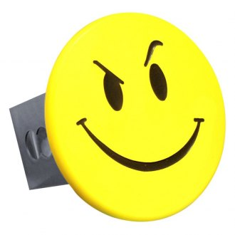 "Autogold® - Yellow Hitch Cover with Smirk Smiley Face Logo for 2"" Receivers"
