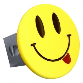 Autogold® - Yellow Hitch Cover with Smiley Face with Tongue Logo
