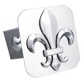 "Autogold® - Chrome Hitch Cover with Fleur-De-Lis for 1-1/4"" Receivers"