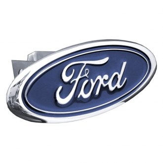 Autogold® - Chrome Hitch Cover with Ford Logo