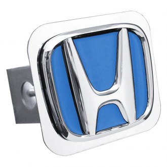 Autogold® - Chrome Hitch Cover with Honda 'Blue Fill' Logo