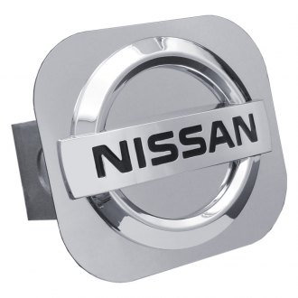 "Autogold® - Hitch Cover with Nissan Logo for 1-1/4"" Receivers"