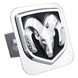 Autogold® - Chrome Hitch Cover with Ram OEM Class 2 Logo