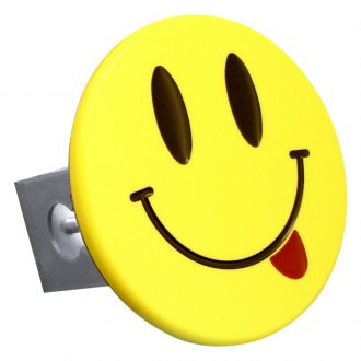 "Autogold® - Hitch Cover with Smiley Face with Tongue Logo for 2"" Receivers"