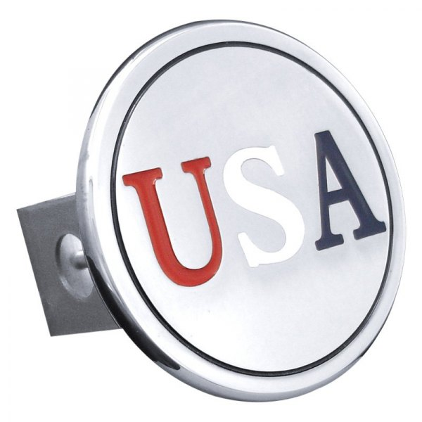 Autogold® - Chrome Hitch Cover with US Class II Logo