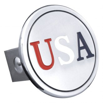 "Autogold® - Chrome Hitch Cover with US Class for 1-1/4"" Receivers"