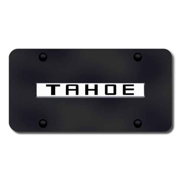 Autogold® - Tahoe Name Logo on Black License Plate